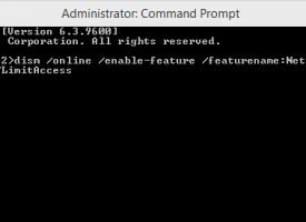ติดตั้ง .NET Framework 3.5 Windows 8.1