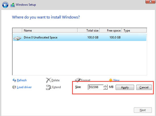 how to format only c drive and install windows 7