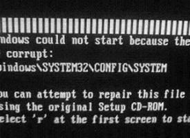แก้ไขปัญหา \WINDOWS\SYSTEM32\CONFIG\SYSTEM Windows XP