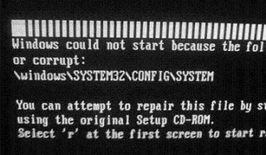 windows XP Cound not start