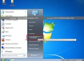 การปรับมุมมอง Control Panel บน Windows 7