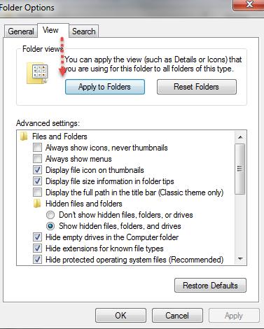 Change View Folders Windows details step2