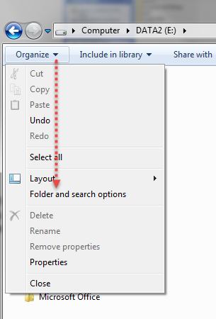 Change View Folders Windows