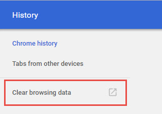 Clear History Google Chrome2