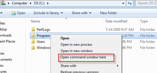 how to run unix commands in windows 7