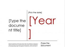ทำหน้าปก Microsoft Word