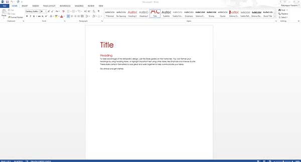 Cover Page Microsoft Word