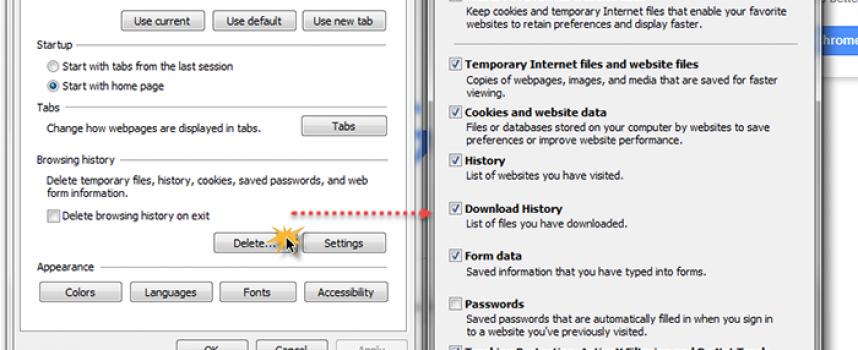 ลบประวัติการเข้าเว็บไซต์ Google Chrome , IE