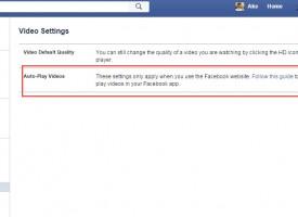 ปิดไม่ให้วีดิโอเล่นอัตโนมัติ Facebook