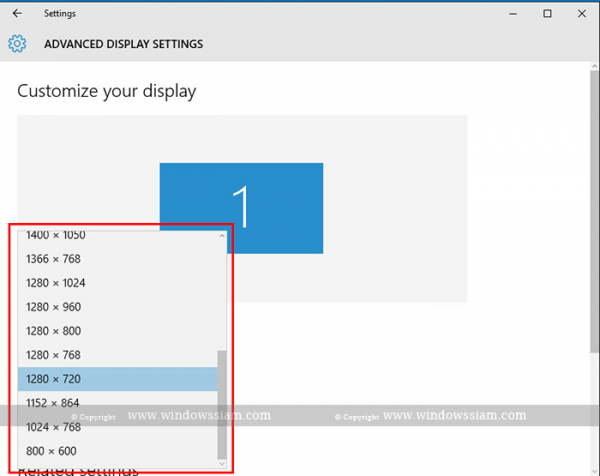 Display Setting Windows 10 2