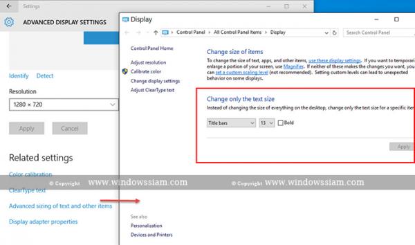 Display Setting Windows 10 4