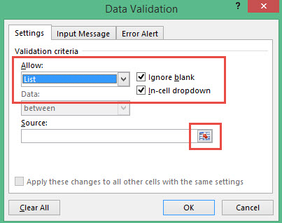 how to add drop down menu in excel 2013