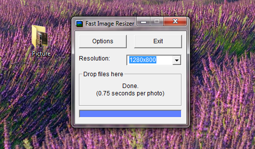 Fast Image Resizer drop folders picture
