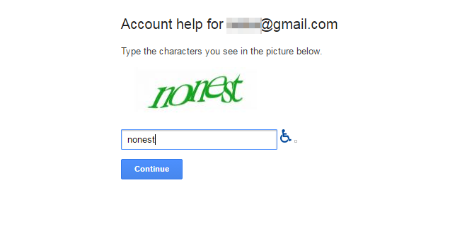 Forgot password Gmail step2