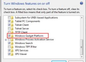 วิธีการปิด Gadgets Windows 7