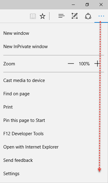 HOME PAGE MICROSOFT EDGE Setting1