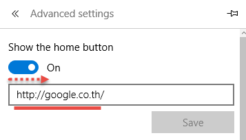 HOME PAGE MICROSOFT EDGE Setting3