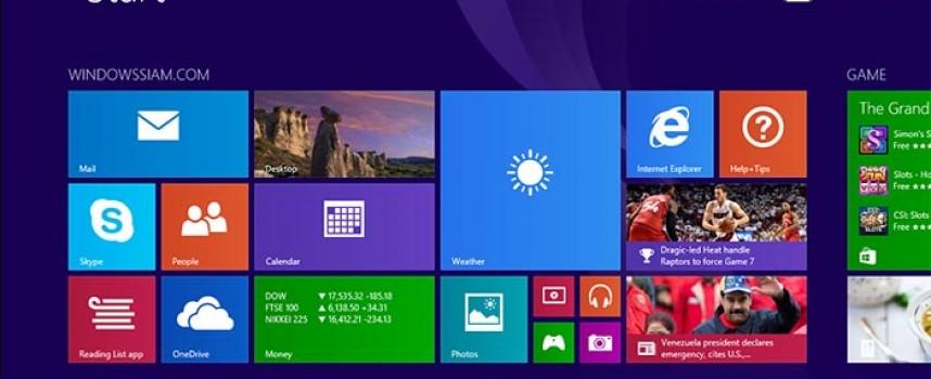 การตั้งชื่อกลุ่มของ Apps ใน Windows 8.1