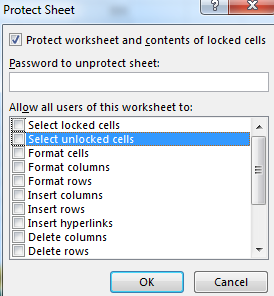 Protect-Sheet-File-Excel password lock