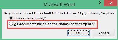Set Defaults Font Microsoft Word 3