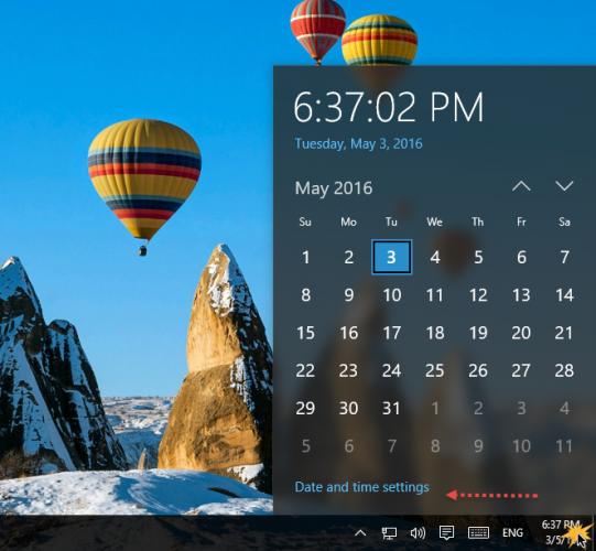 Set-time-Windows10