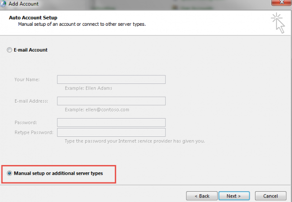 Setting Mail Gmail Microsoft Outlook step2