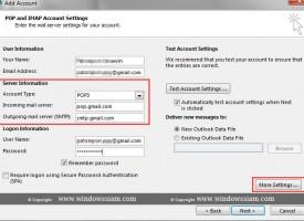 ตั้งค่าอีเมล์ Gmail ดึงลง Microsoft Outlook 2013