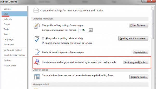 Signature Microsoft Outlook step2