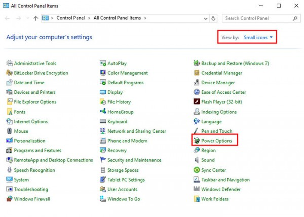 Turn Off Diskplay Windows10 ControlPanel