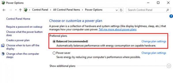 Turn Off Diskplay Windows10 Option Plan