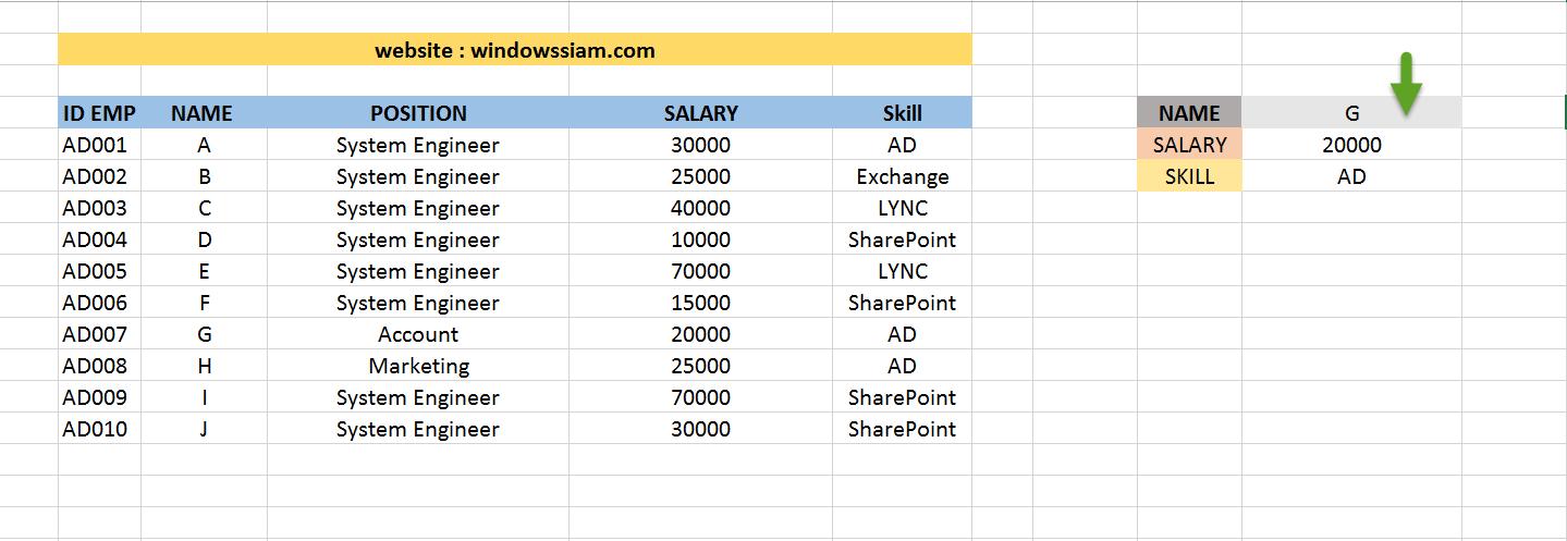 VLOOKUP Excel basic 10