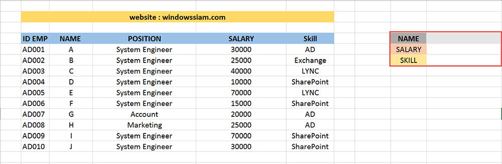 VLOOKUP Excel basic 2