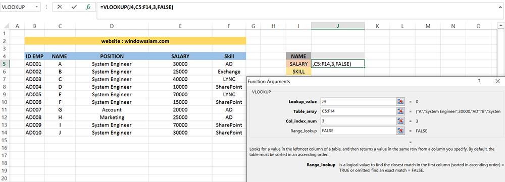 VLOOKUP Excel basic 4