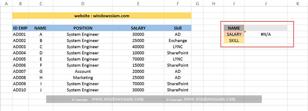 VLOOKUP Excel basic 7