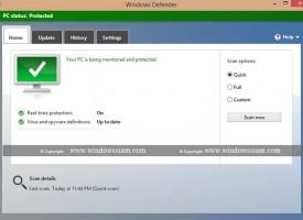 ของฟรี Windows Defender ใน Windows 8.1