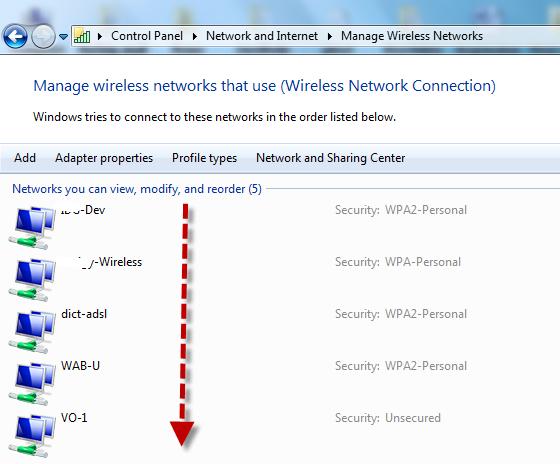 Wireless-Windows 7 connection