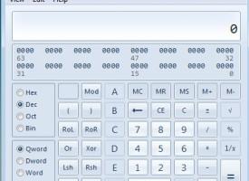เครื่องคิดเลข บน Windows 7