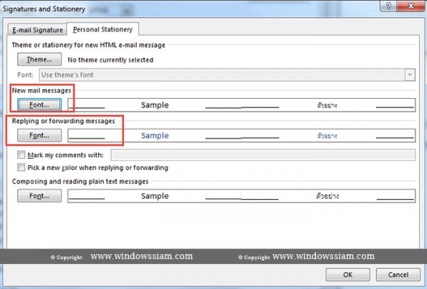 set-font-Microsoft Outlook Font