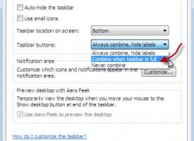 ปรับลูกเล่นของ Taskbar windows 7