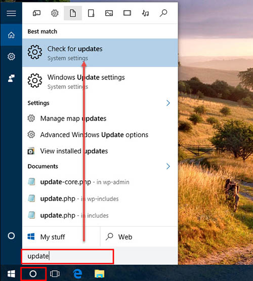 Update Windows 10 -1