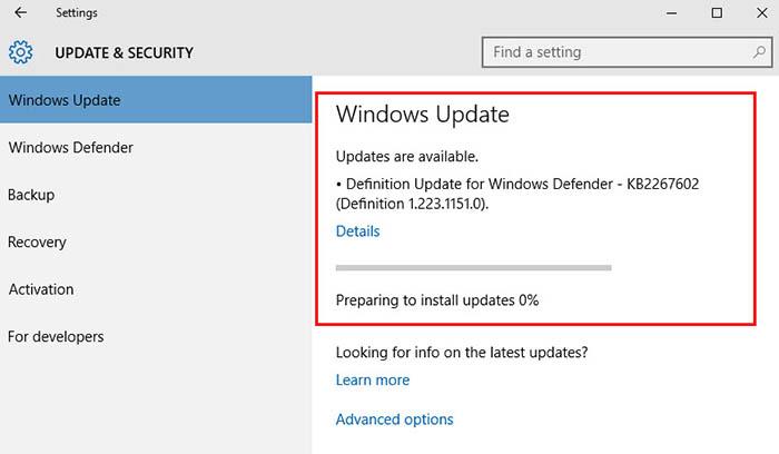 Update Windows 10 -4