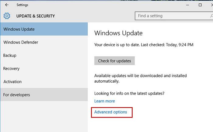 Update Windows 10 -5