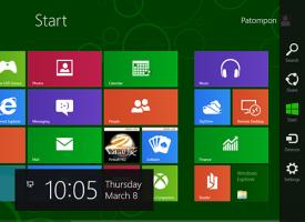 พาดูเมนูใน Windows 8.1