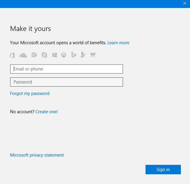 Windows 10 Sign-in email 4