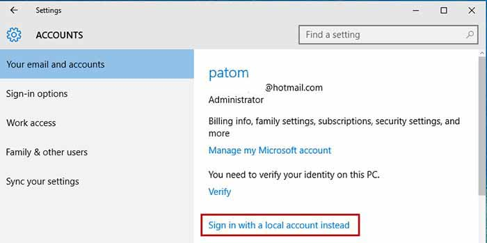 Windows 10 Sign-in email 8