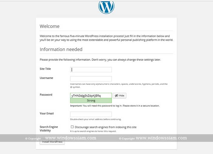 install wordpress 5