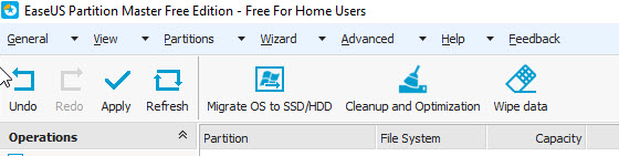 EaseUS Partition Add Disk Drive C 14