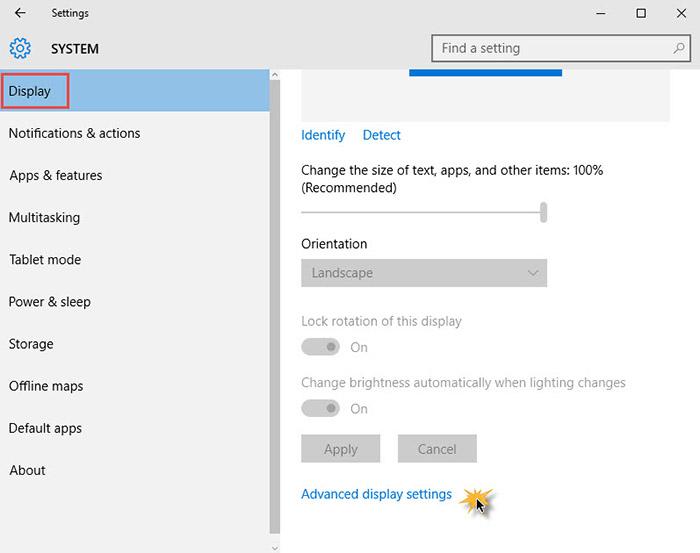 Advance Sizing Windows 10 Menu -2