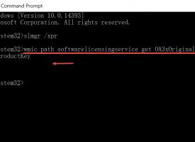ค้นหาคีย์ License Windows 10