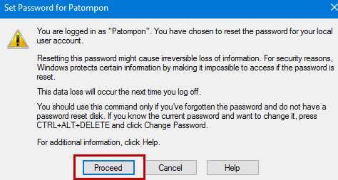 Set user password Windows 10 -3